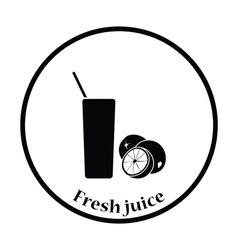 Icon of Orange juice glass vector image