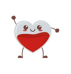 Kawaii heart blood crystal vector