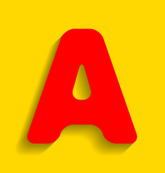 Letter a sign design template element red vector