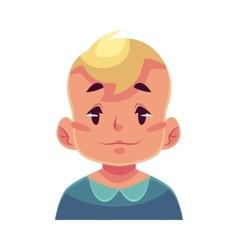 Little boy face neutral facial expression vector image vector image