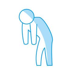 Man silhouette depressed vector