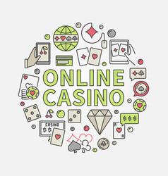 Online casino round vector