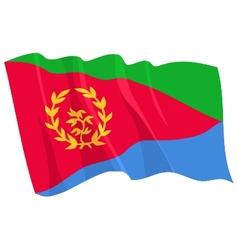 Political waving flag of eritrea vector