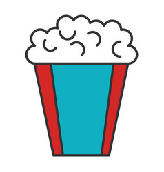 Pop corn cinema food vector