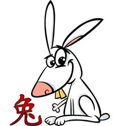 Rabbit chinese zodiac horoscope sign vector