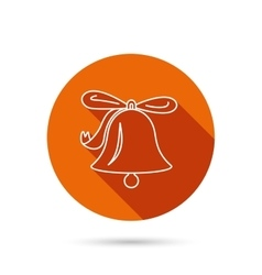 Ringing bell icon sound handbell sign vector