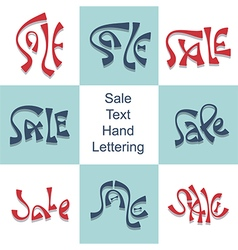 Sale hand lettering set discount price promo text vector image vector image