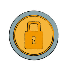 security protection padlock keyhole close symbol vector image vector image