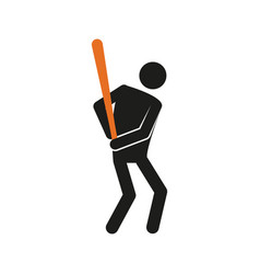 simple baseball sport figure symbol graphic vector image