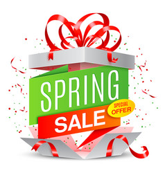 spring sale announcement vector image vector image