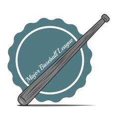 Wooden baseball bat vector