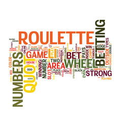 Your guide on how to play roulette text vector