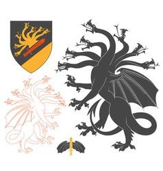 Black Hydra vector image