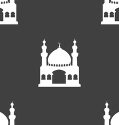 Turkish architecture mosque sign seamless pattern vector