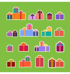 Christmas gifts flat vector