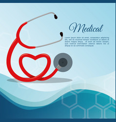 Stethoscope medical equipment vector