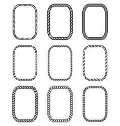 Rope set of rectangular frames collection vector