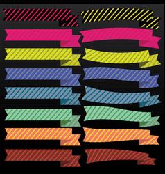 Cute ribbons vector