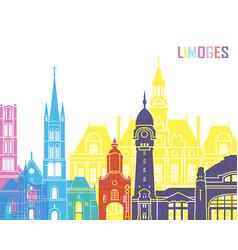 Limoges skyline pop vector