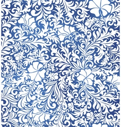 Blue floral decorative pattern vector