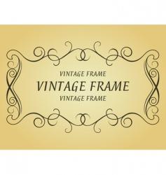 Swirl vintage frame vector