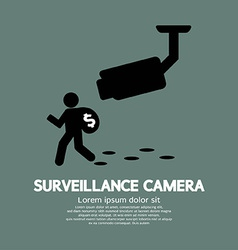 Surveillance camera graphic vector