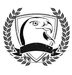 Grunge eagle head emblem vector