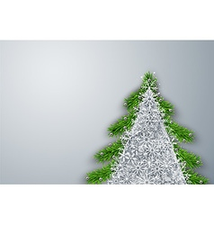 Christmas tree frame background vector