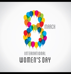 Happy womens day design 8 design by balloons vector