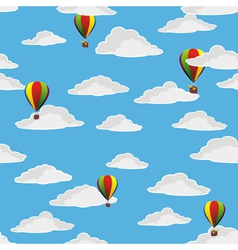 Retro balloons flying vector