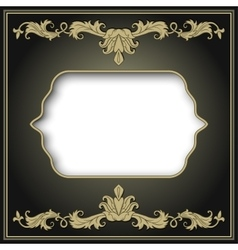 Vintage border frame engraving vector