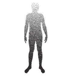 Halftone body  male anatomy designed using vector