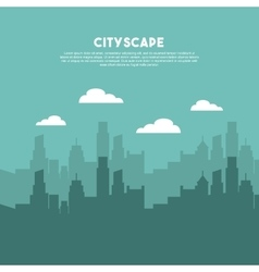 cityscape buildings skyline icon vector image