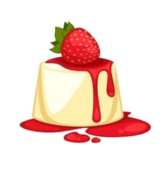 Delicious sweet dessert cartoon vector