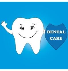 Dental care design concept human tooth smile vector