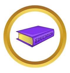 Education book icon vector