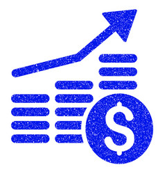 Financial chart grunge icon vector