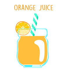 fresh orange juice on white background xa vector image vector image