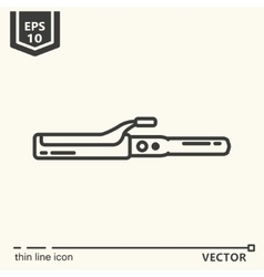 Hairdressing tools icons series hair curlers vector