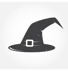 Halloween hat outline icon vector