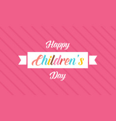 Happy children day banner style ciute vector
