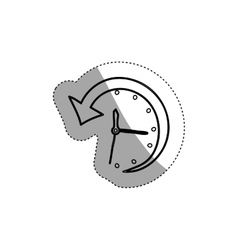 Isolated arrow and clock design vector