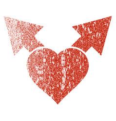Love variant arrows grunge texture icon vector