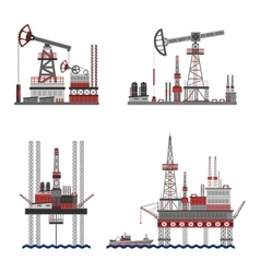 Oil Petroleum Platform Set vector image