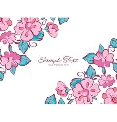 pink blue kimono flowers horizontal double vector image vector image