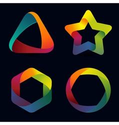 rainbow logo templates vector image vector image