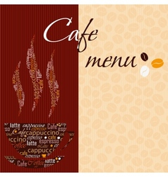 Template of a cafe menu vector image vector image