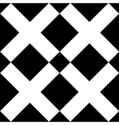 Tile black and white x cross pattern vector image