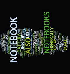 your guide to a notebook text background word vector image vector image