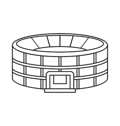 Stadium icon in outline style vector